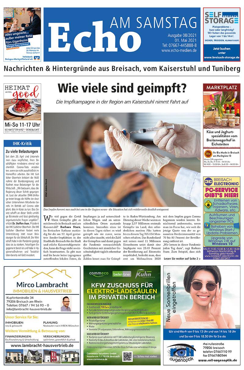 E Paper Cover Echo Medien Ausgabe 08 2021