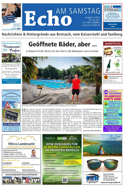 E Paper Cover Echo Medien Ausgabe 12 2021