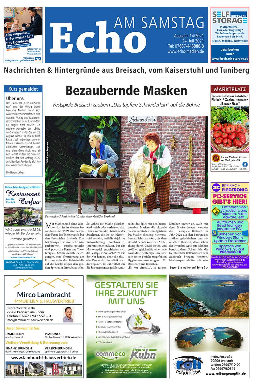 E Paper Cover Echo Medien Ausgabe 14 2021