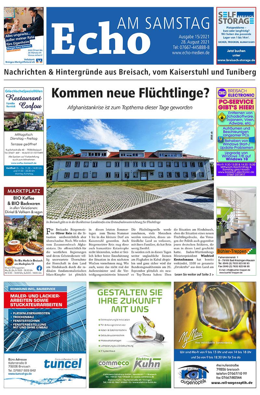 E Paper Cover Echo Medien Ausgabe 15 2021